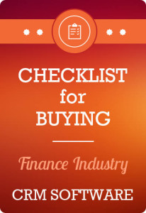 Checklist for buying Financial Services CRM Software
