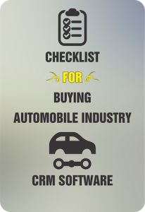 Checklist For Buying Automobile CRM