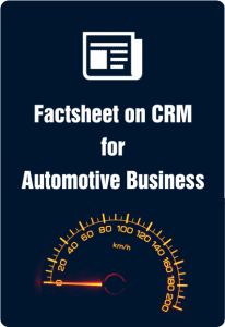 Factsheet on crm for Automotive business