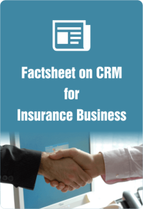 factsheet on crm for insurance business