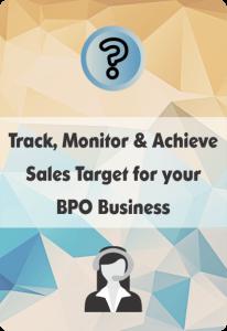 Booklet On Bpo Crm For Sales Target Management