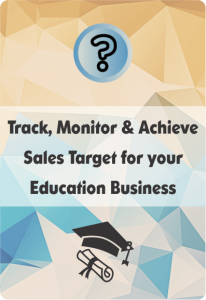 Booklet On Education Crm For Sales Target Management