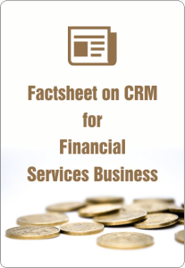 Factsheet On CRM For Financial Services Business