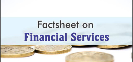 Factsheet On Financial Services