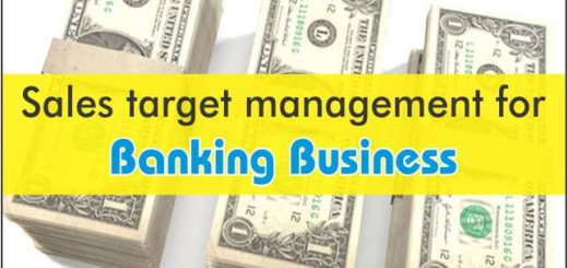 sales target management for banking business
