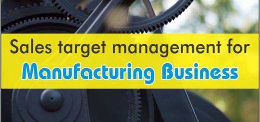 Sales Target Management For Manufacturing Business