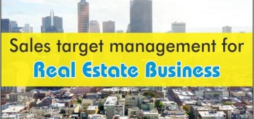 Sales Target Management For Real Estate Business