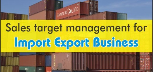 sales target management for import export business