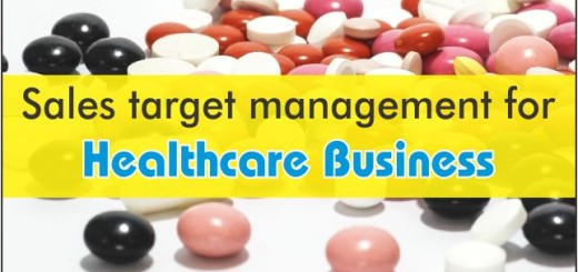 sales target management for healthcare business