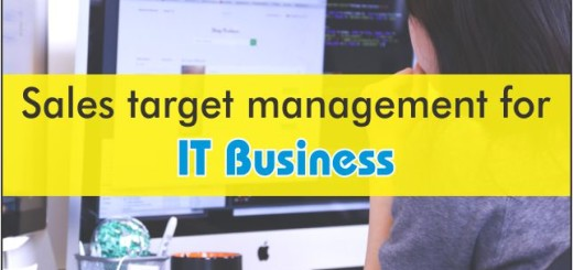 sales target management for it business
