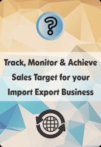 booklet on import export crm for sales target management