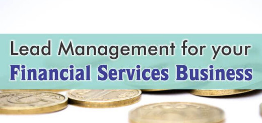 crm for lead management in financial services business