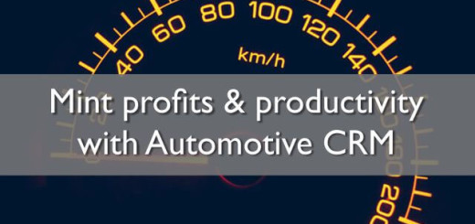 mint profits and productivity with automotive crm