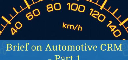 Brief on Automotive CRM Part 1