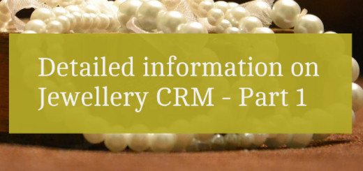Detailed information on Jewellery CRM Part 1