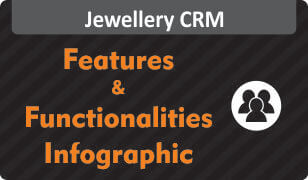 Infographic on Features & Functionalities of Jewellery CRM