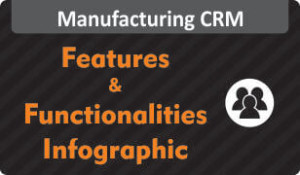 Infographic on Features & Functionalities of Manufacturing CRM