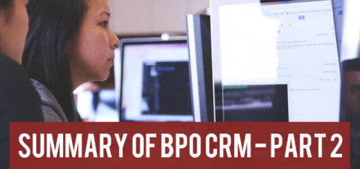 Summary of BPO CRM Part 2