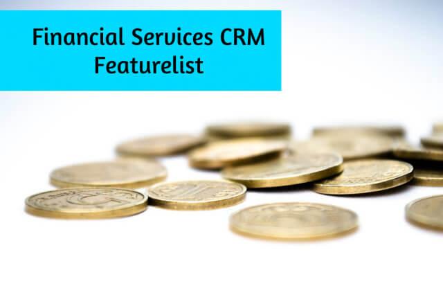 Financial Services CRM Featurelist
