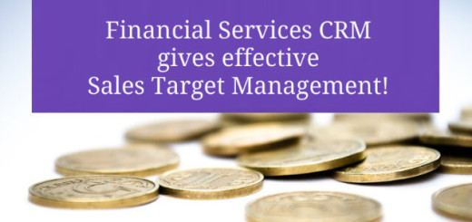Financial Services CRM gives effective Sales Target Management