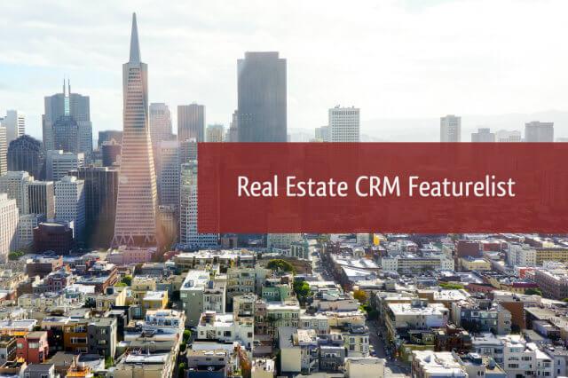 Real Estate Crm Featurelist