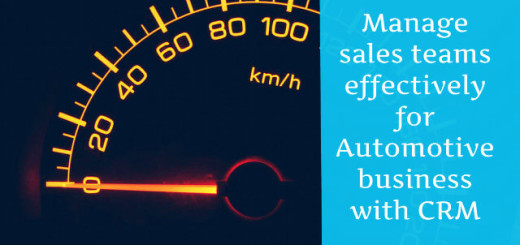 Manage sales teams effectively for Automotive business with CRM
