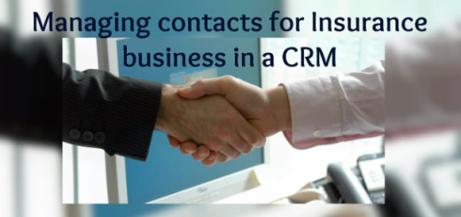 Managing contacts for Insurance business in CRM