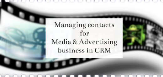Managing contacts for Media & Advertising business in CRM