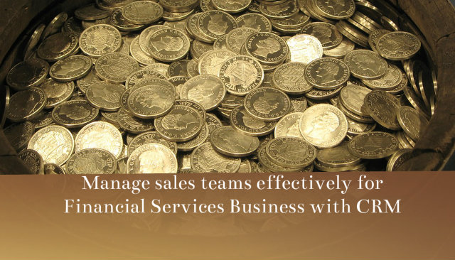 Manage Sales Teams Effectively For Financial Services Business With CRM