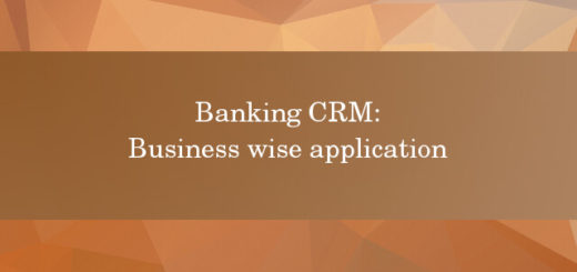 Banking CRM business wise application
