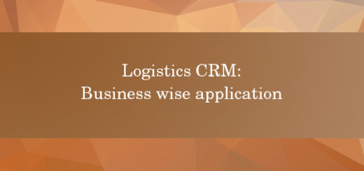Logistics CRM business wise application