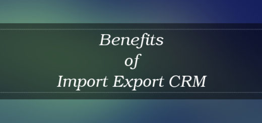 Import Export CRM benefits